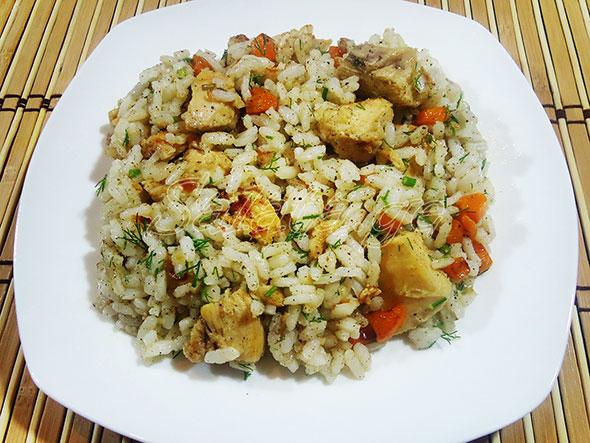 ბრინჯის ფლავი ქათმის ფილეთი