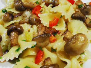 მაკარონის სალათა სოკოთი